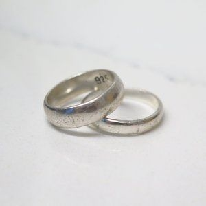 Two Vintage Antique Sterling Silver Rings